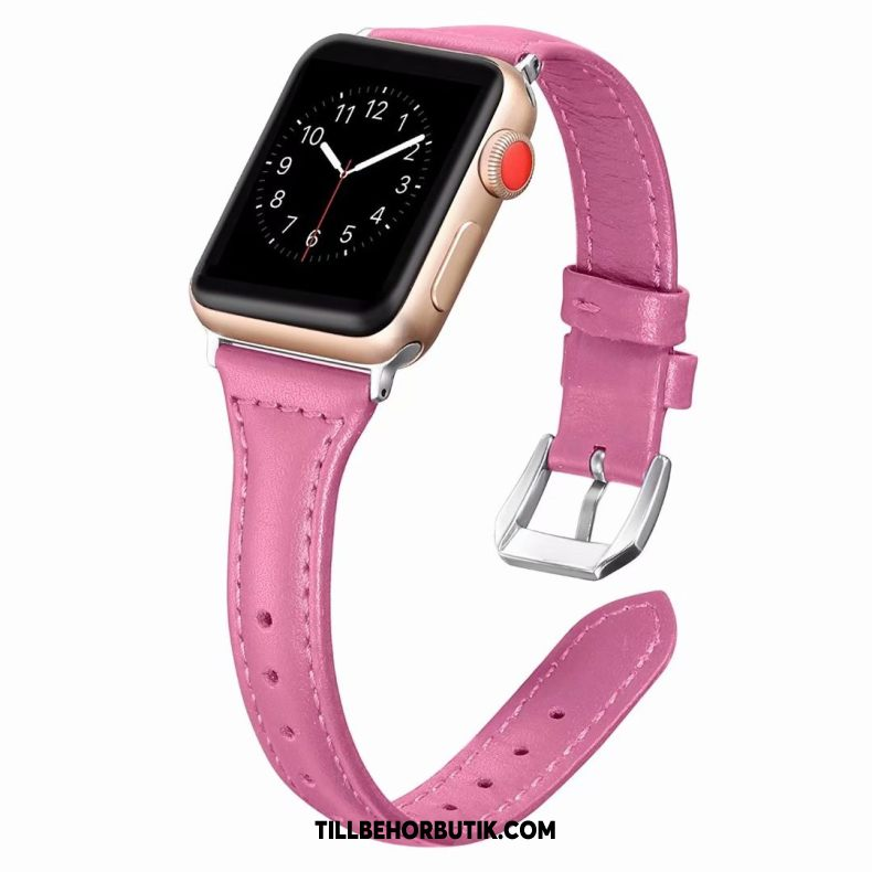 Apple Watch Series 2 Skal Bra Äkta Läder Rosa, Apple Watch Series 2 Fodral