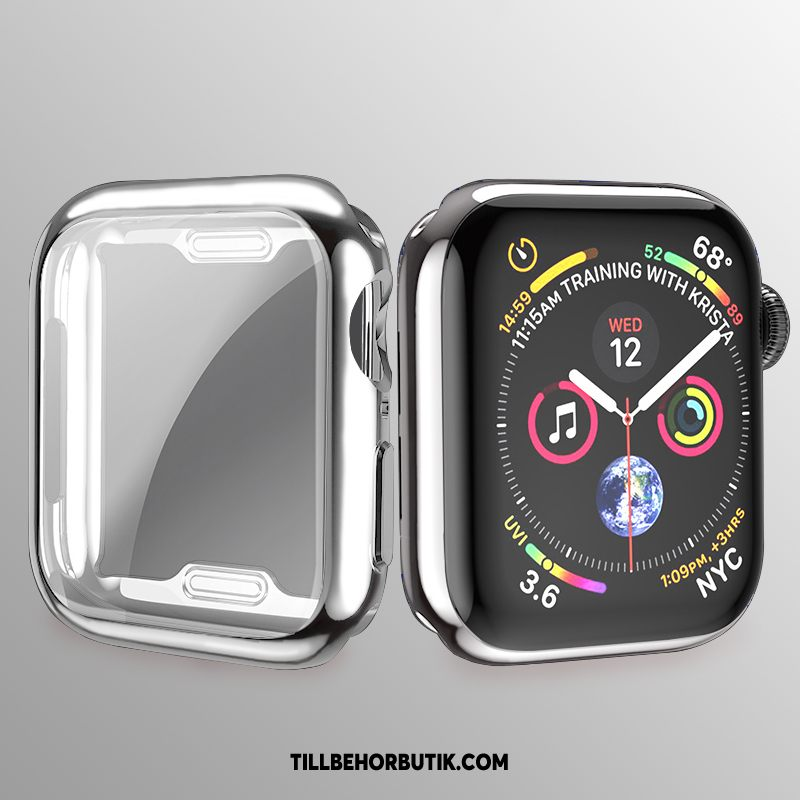 Apple Watch Series 2 Skal Mjuk All Inclusive Plating, Apple Watch Series 2 Fodral Slim Silver