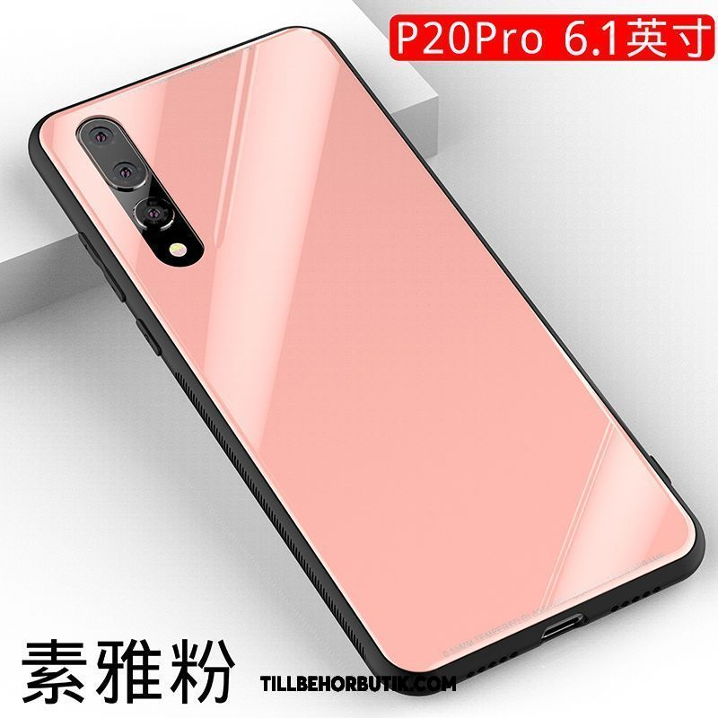 Huawei P20 Pro Skal Trend Fallskydd Rosa, Huawei P20 Pro Fodral Glas All Inclusive