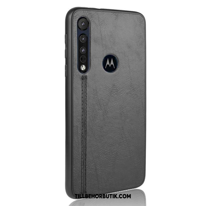 Moto G8 Plus Skal Business Skydd All Inclusive, Moto G8 Plus Fodral Svart Mjuk