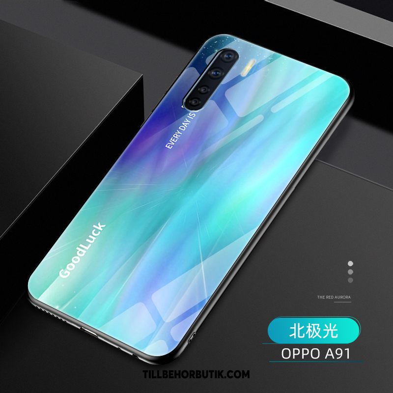 Oppo A91 Skal Mode Gradient Kreativa, Oppo A91 Fodral Ny Nubuck
