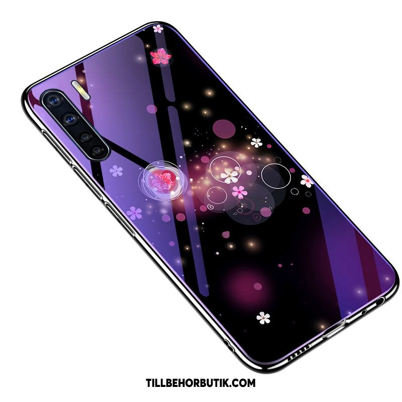 Oppo A91 Skal Skärmskydd Film Mobil Telefon Fallskydd, Oppo A91 Fodral All Inclusive Purpur