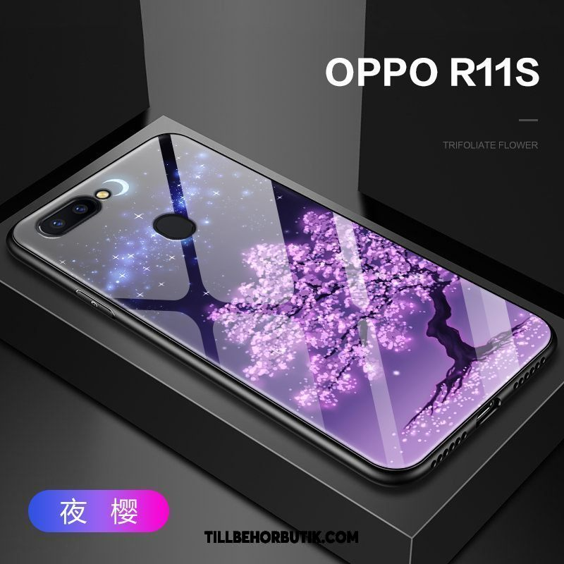 Oppo R11s Skal Glas All Inclusive Mobil Telefon, Oppo R11s Fodral Trend Skydd