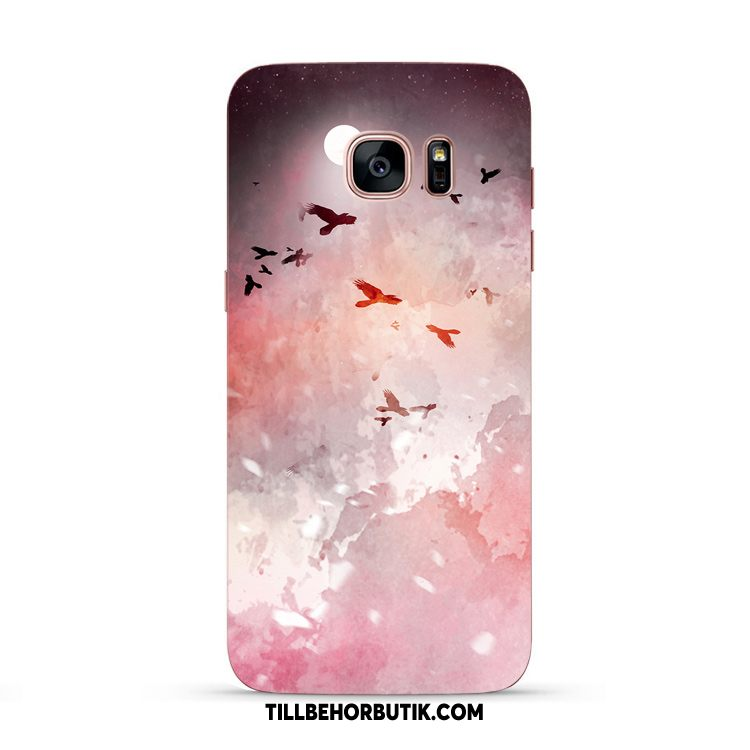 Samsung Galaxy S7 Edge Skal Cherry All Inclusive Mjuk, Samsung Galaxy S7 Edge Fodral Stjärna Originalitet Braun