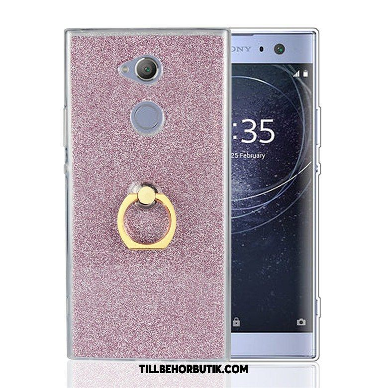 Sony Xperia Xa2 Plus Skal Skydd Rosa Support, Sony Xperia Xa2 Plus Fodral Fallskydd Mobil Telefon