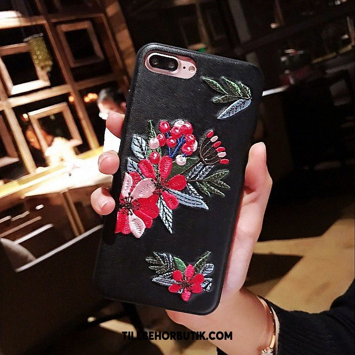 iPhone 7 Plus Skal Mobil Telefon Röd Rose, iPhone 7 Plus Fodral Blommor Kreativa