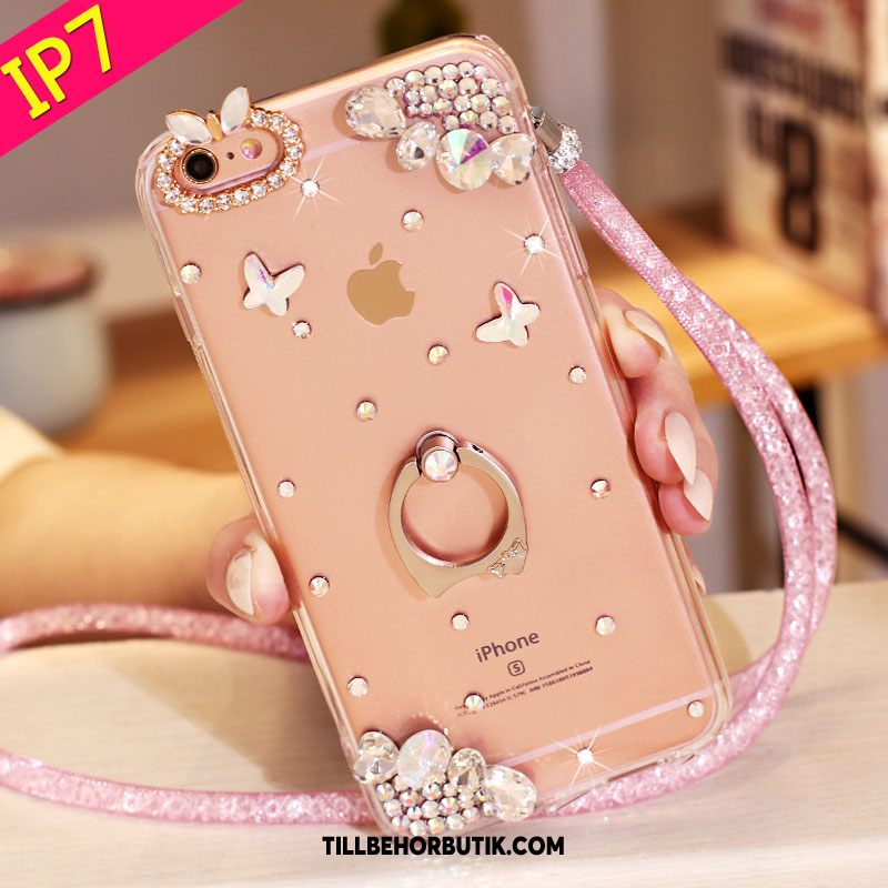 iPhone 7 Skal Skydd Rosa Mobil Telefon, iPhone 7 Fodral Strass Support