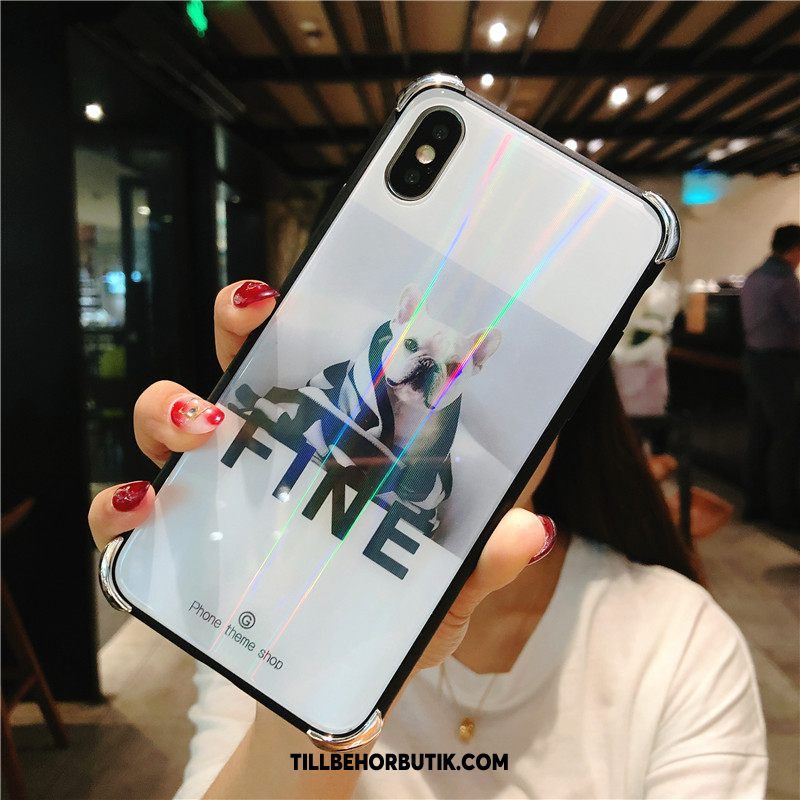 iPhone Xs Max Skal Glas All Inclusive Par, iPhone Xs Max Fodral Vit Cow