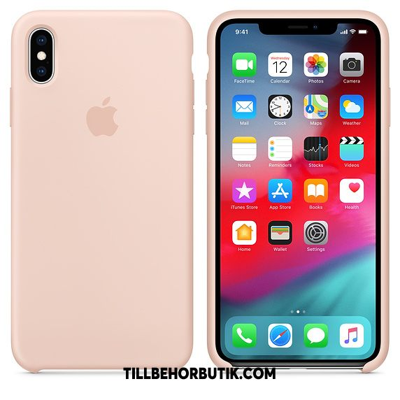 iPhone Xs Max Skal Silikon Ny Net Red, iPhone Xs Max Fodral Solid Färg Mjuk