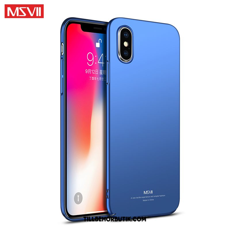 iPhone Xs Max Skal Slim Fallskydd Nubuck, iPhone Xs Max Fodral Silikon Net Red