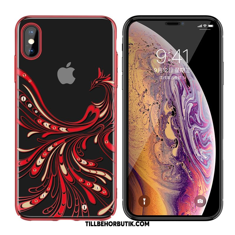 iPhone Xs Max Skal Transparent Plating Lyxiga, iPhone Xs Max Fodral All Inclusive Fallskydd